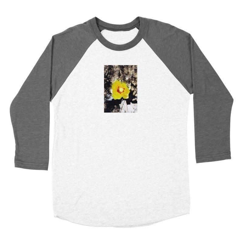 Yellow Cacti Flower Women's Longsleeve T-Shirt by Moon Pie Studio's Artist Shop