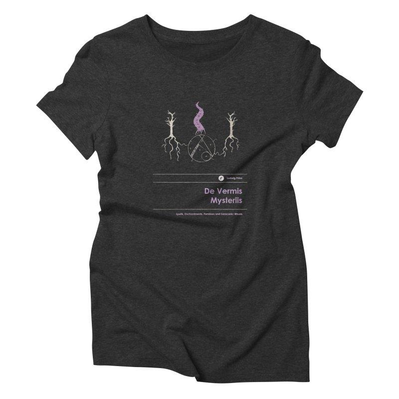 De Vermis Mysteriis Women's T-Shirt by Moonskinned