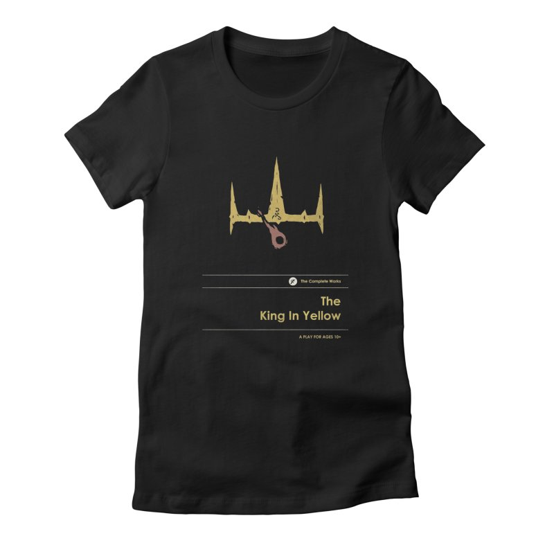 The King in Yellow Women's Fitted T-Shirt by Moonskinned