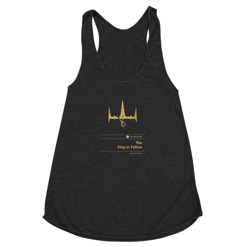 The King in Yellow Women's Racerback Triblend Tank by Moonskinned