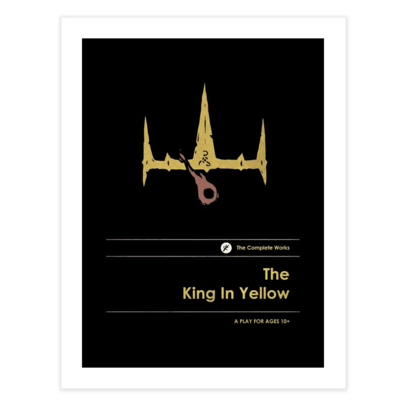The King in Yellow Home Fine Art Print by Moonskinned