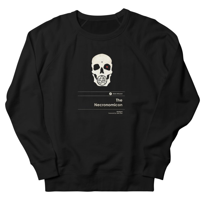 The Necronomicon Men's French Terry Sweatshirt by Moonskinned