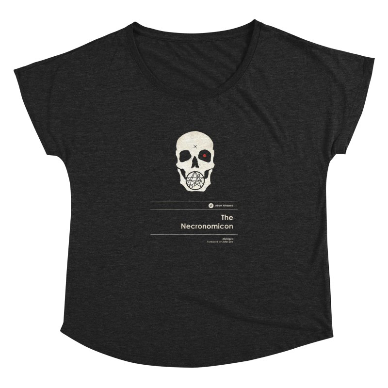 The Necronomicon Women's Dolman Scoop Neck by Moonskinned