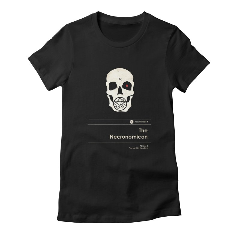 The Necronomicon Women's Fitted T-Shirt by Moonskinned