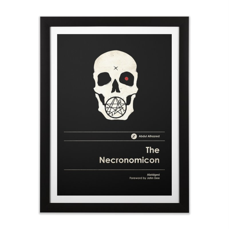 The Necronomicon Home Framed Fine Art Print by Moonskinned