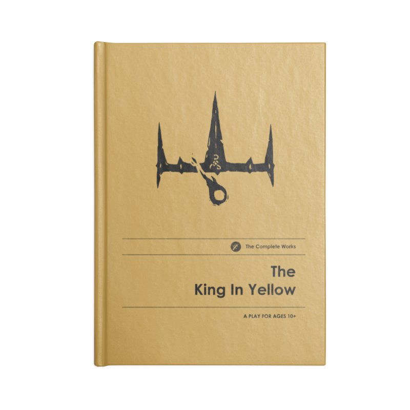 The King in Yellow (Special Edition) Accessories Notebook by Moonskinned
