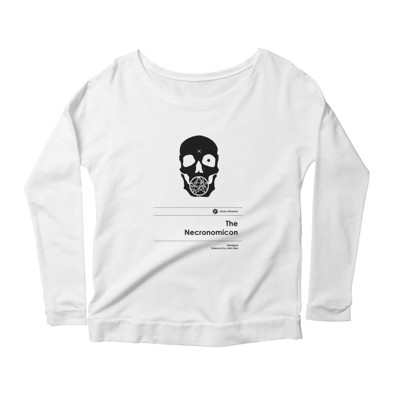The Necronomicon (Special Edition) Women's Longsleeve Scoopneck  by Moonskinned