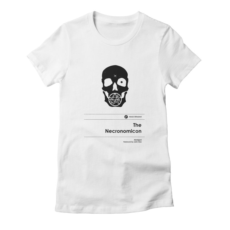 The Necronomicon (Special Edition) Women's Fitted T-Shirt by Moonskinned