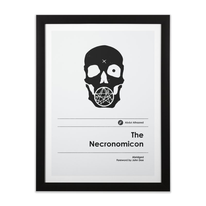The Necronomicon (Special Edition) Home Framed Fine Art Print by Moonskinned