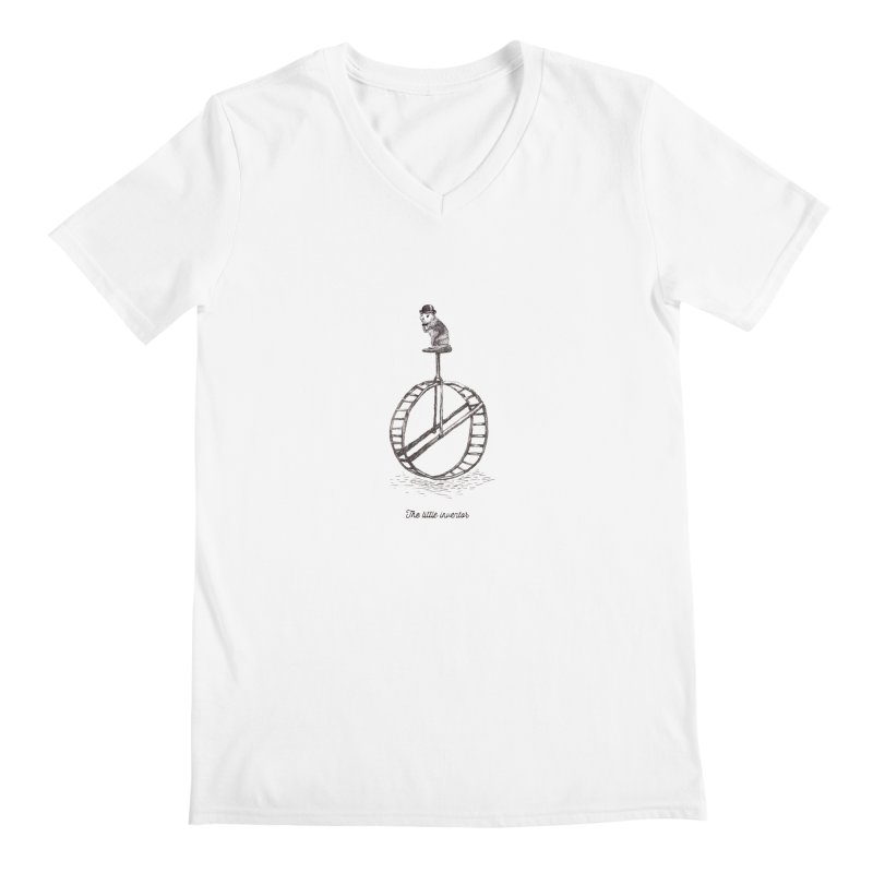 The Little Inventor Men's V-Neck by Moran Barkai's Shop