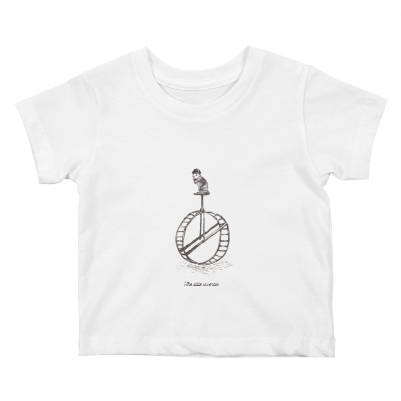 The Little Inventor Kids Baby T-Shirt by Moran Barkai's Shop