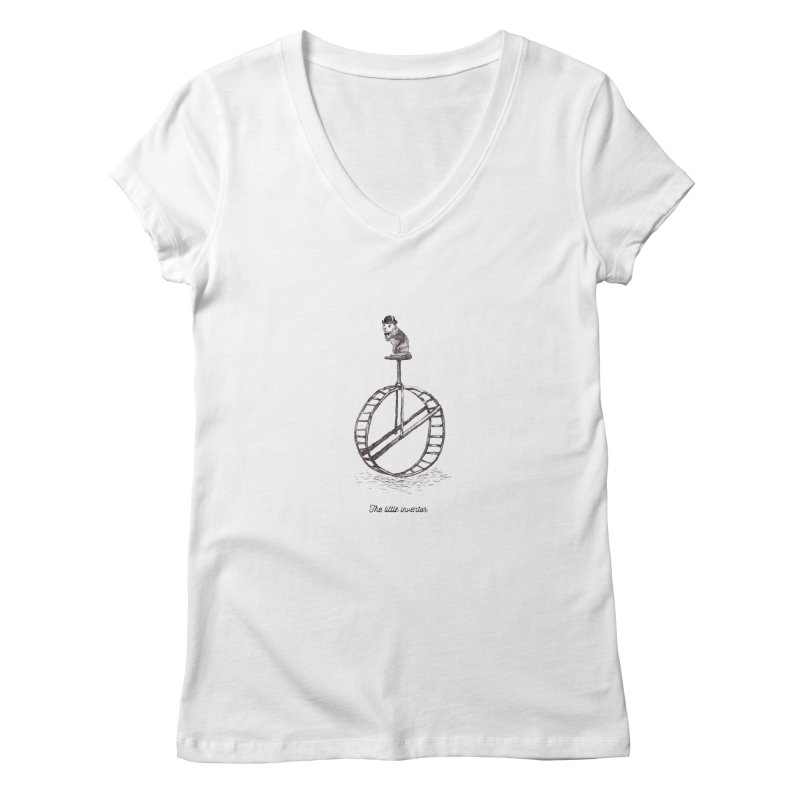 The Little Inventor Women's V-Neck by Moran Barkai's Shop