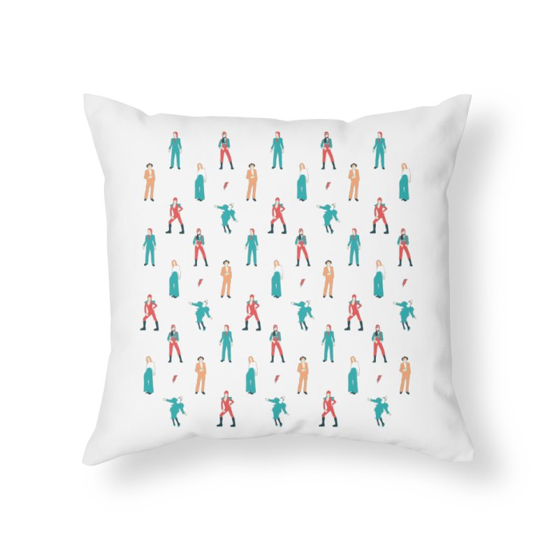 The Land of Bowie Home Throw Pillow by Moran Barkai's Shop