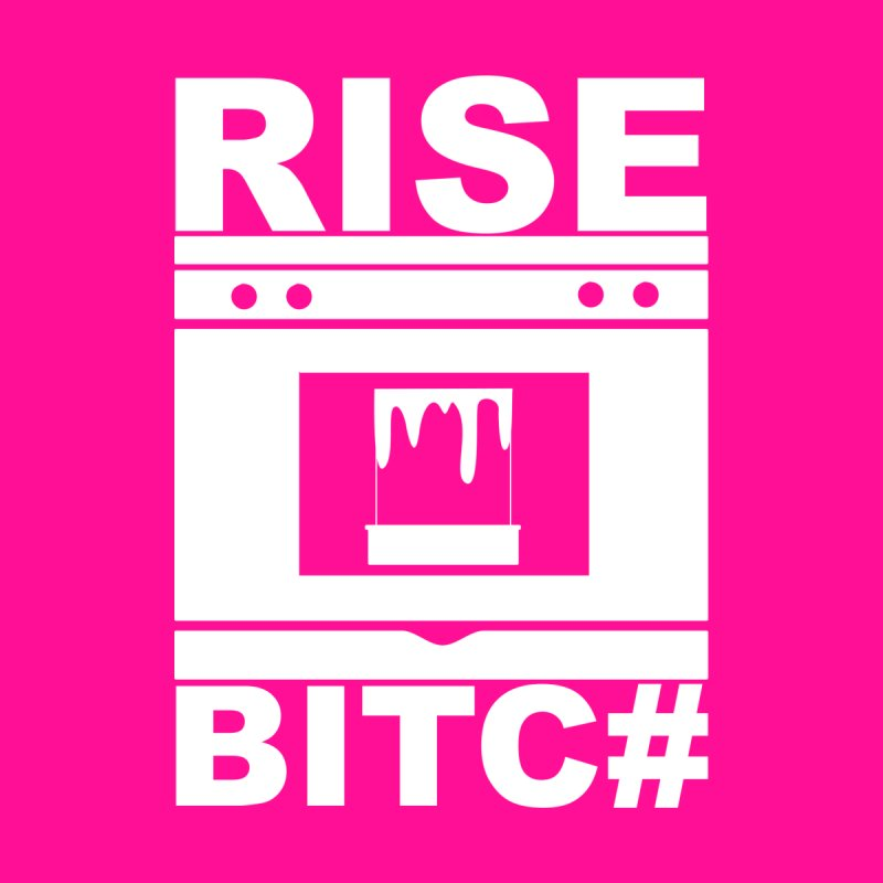 RISE BITC# (Wht) Women's Triblend T-Shirt by More Cake?