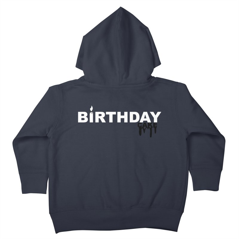 BIRTHDAY CAKE (Wht & Blk) Kids Toddler Zip-Up Hoody by More Cake?