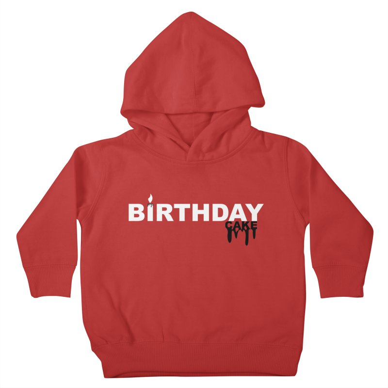 BIRTHDAY CAKE (Wht & Blk) Kids Toddler Pullover Hoody by More Cake?