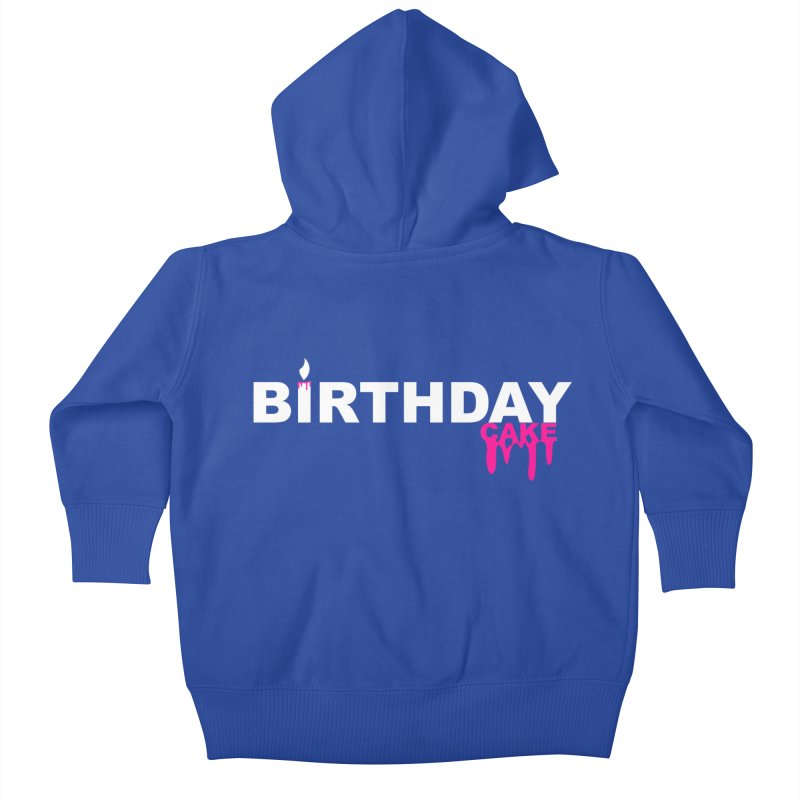BIRTHDAY CAKE (Wht & Pnk) Kids Baby Zip-Up Hoody by More Cake?