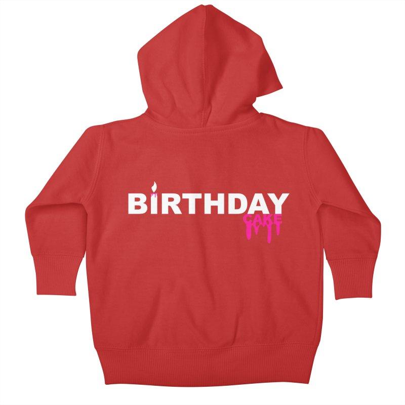 BIRTHDAY CAKE (Wht & Pnk) Kids Baby Zip-Up Hoody by More Cake?