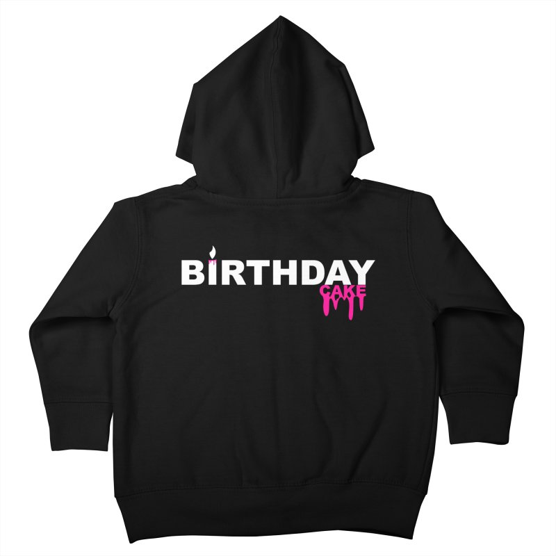 BIRTHDAY CAKE (Wht & Pnk) Kids Toddler Zip-Up Hoody by More Cake?