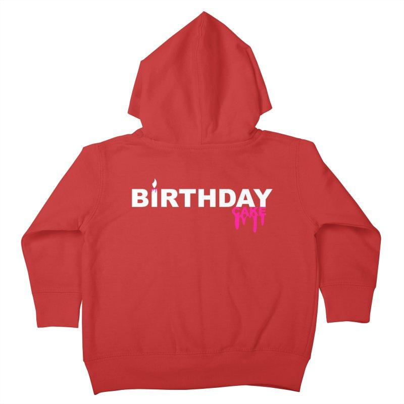 BIRTHDAY CAKE (Wht & Pnk) Kids Toddler Zip-Up Hoody by More Cake?