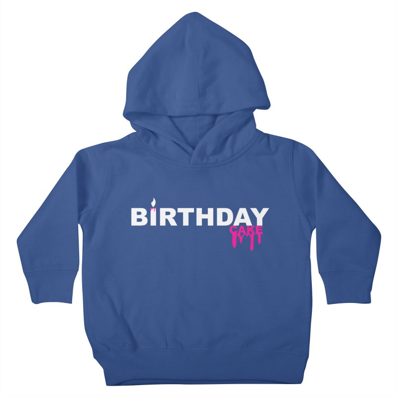 BIRTHDAY CAKE (Wht & Pnk) Kids Toddler Pullover Hoody by More Cake?