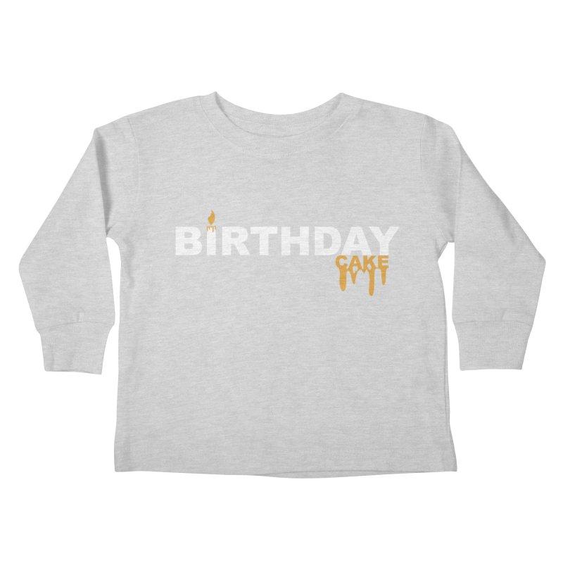 BIRTHDAY CAKE (Wht & Gld) Kids Toddler Longsleeve T-Shirt by More Cake?