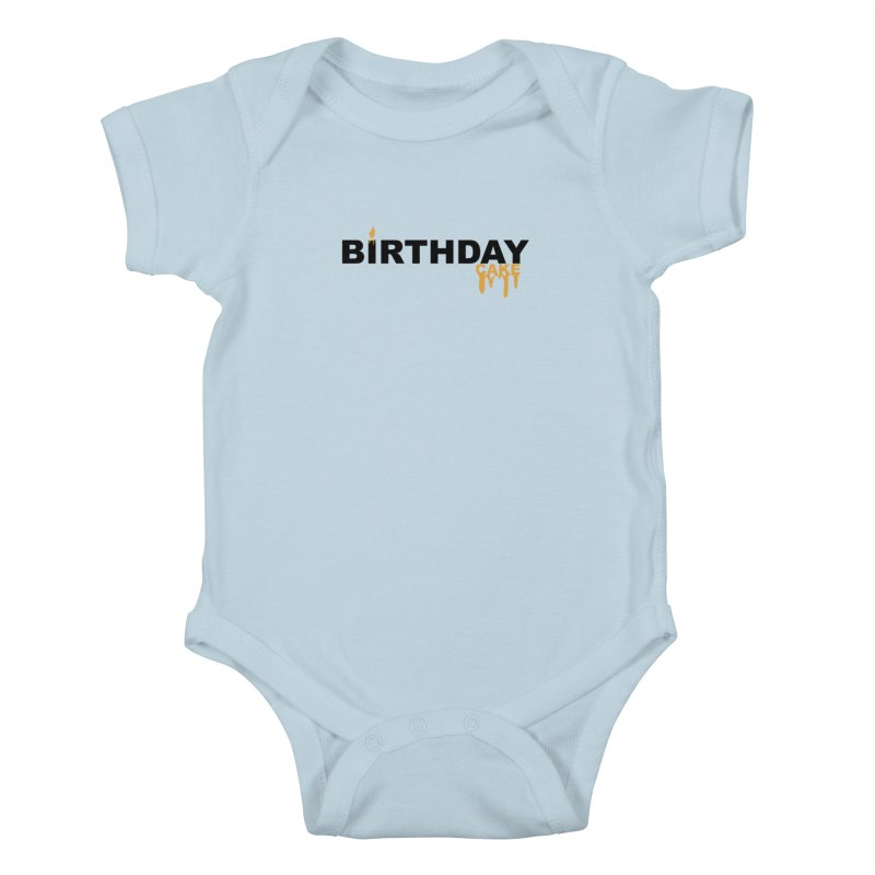 BIRTHDAY CAKE (Blk & Gld) Kids Baby Bodysuit by More Cake?