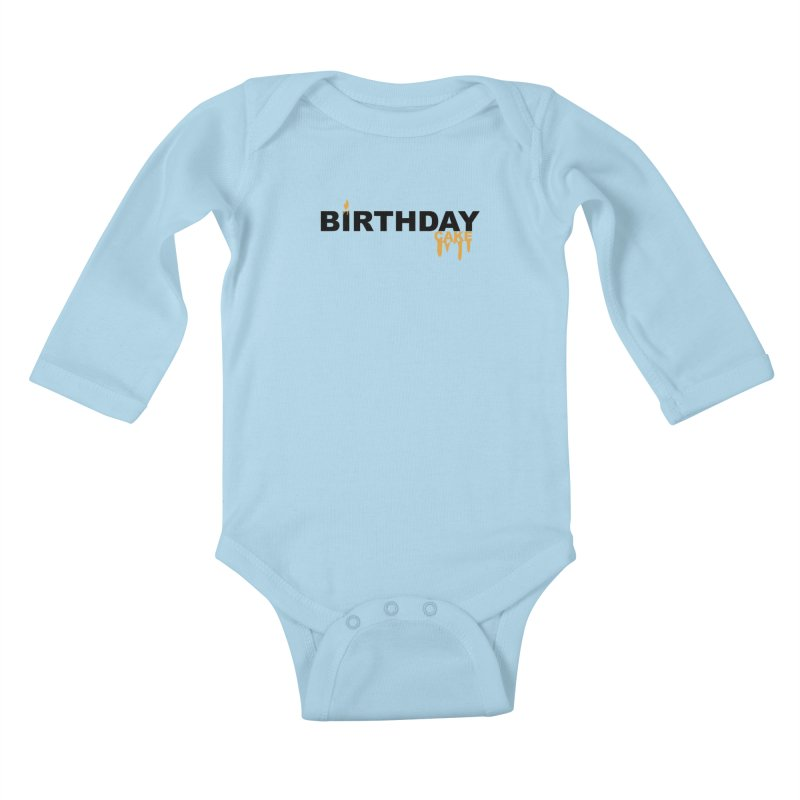 BIRTHDAY CAKE (Blk & Gld) Kids Baby Longsleeve Bodysuit by More Cake?
