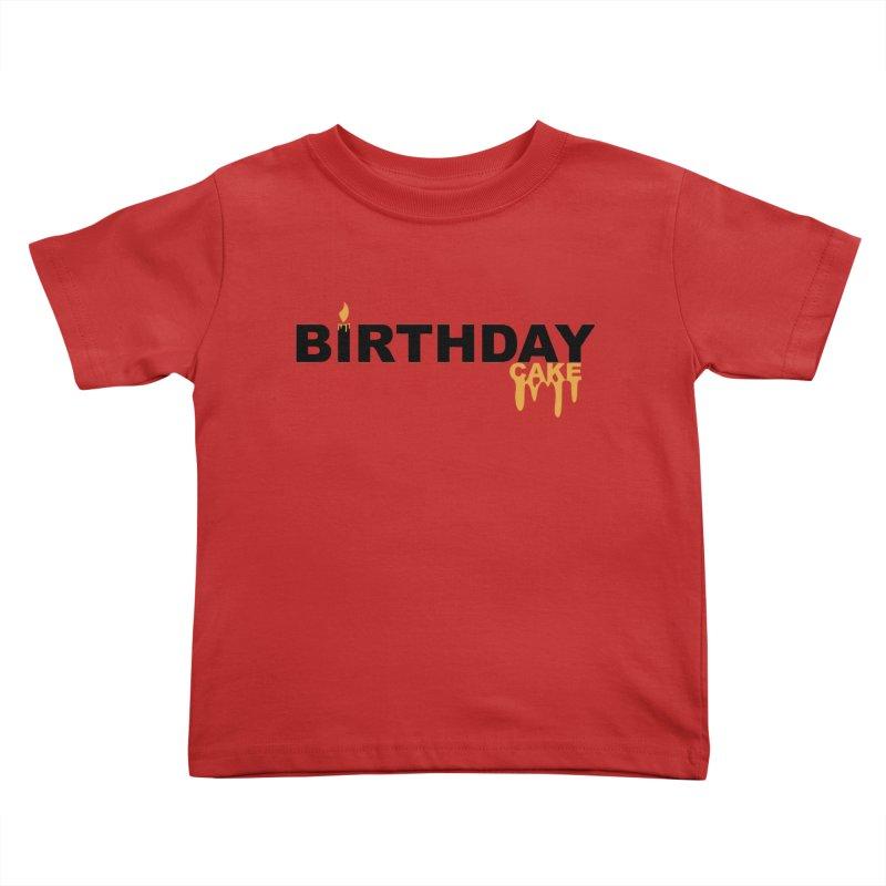 BIRTHDAY CAKE (Blk & Gld) Kids Toddler T-Shirt by More Cake?