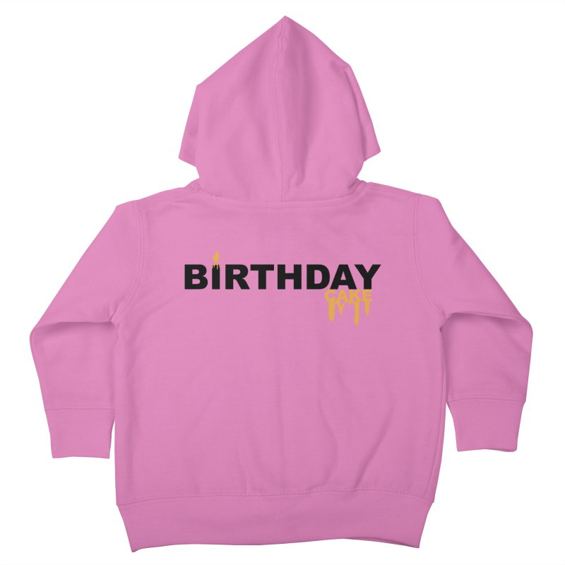 BIRTHDAY CAKE (Blk & Gld) Kids Toddler Zip-Up Hoody by More Cake?
