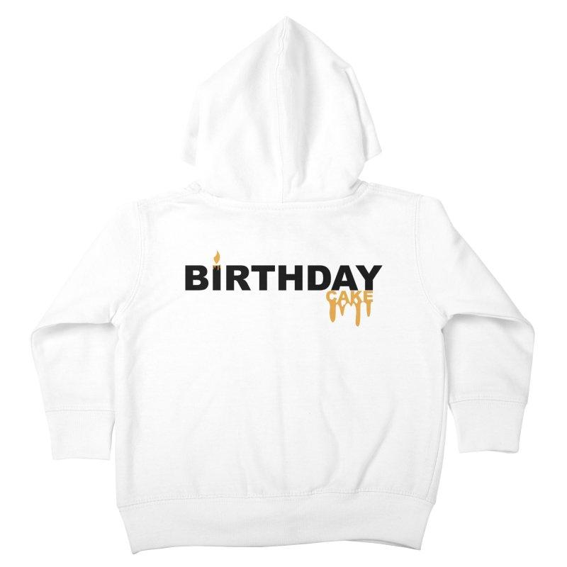 BIRTHDAY CAKE (Blk & Gld) Kids Toddler Zip-Up Hoody by More Cake?