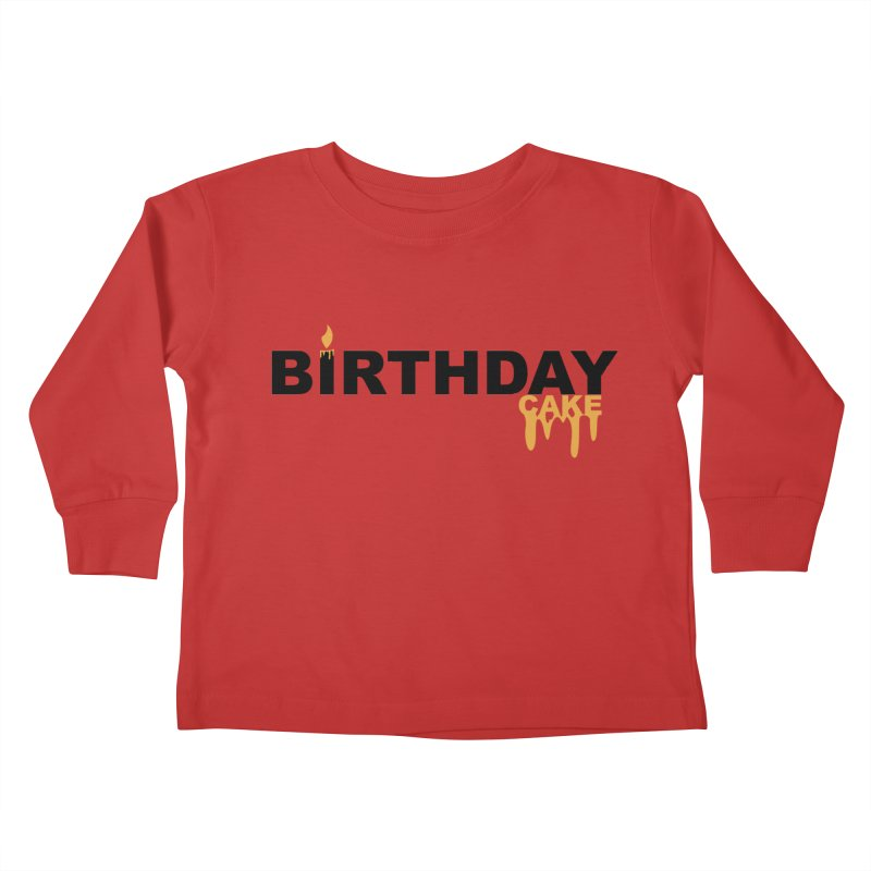 BIRTHDAY CAKE (Blk & Gld) Kids Toddler Longsleeve T-Shirt by More Cake?
