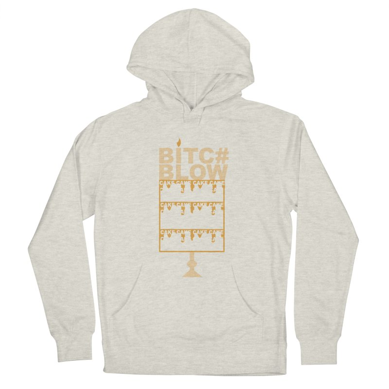 BITC# BLOW (Gld) Men's French Terry Pullover Hoody by More Cake?