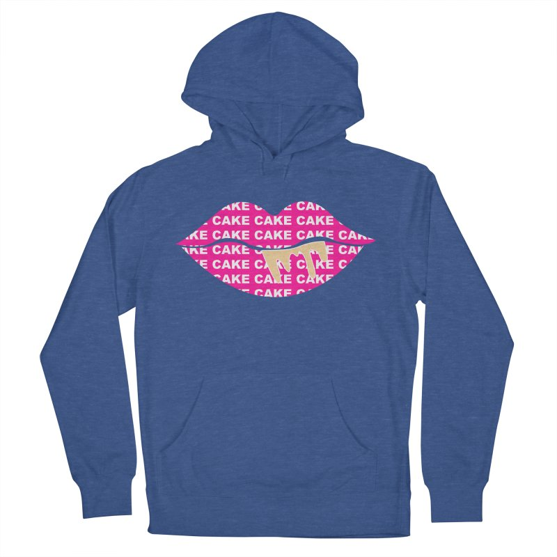 CAKE LIPS (Gld Drips) Men's French Terry Pullover Hoody by More Cake?