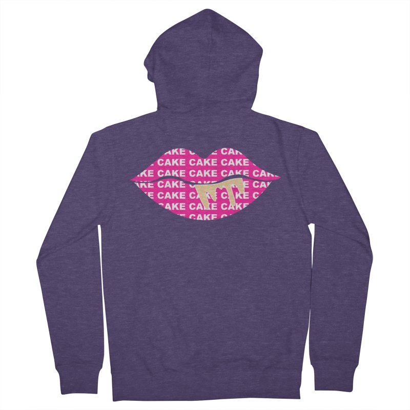 CAKE LIPS (Gld Drips) Men's Zip-Up Hoody by More Cake?