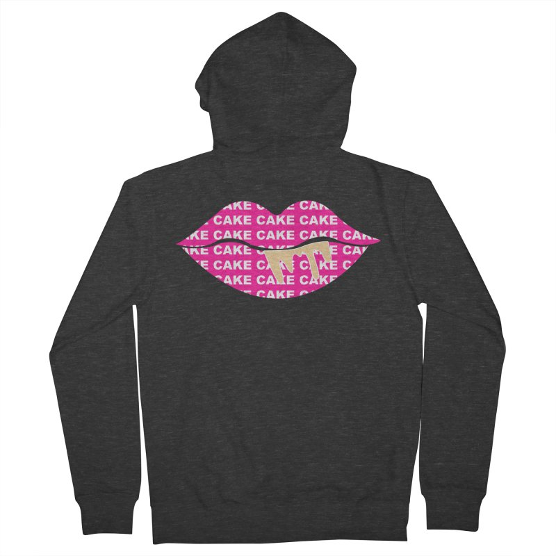 CAKE LIPS (Gld Drips) Men's French Terry Zip-Up Hoody by More Cake?