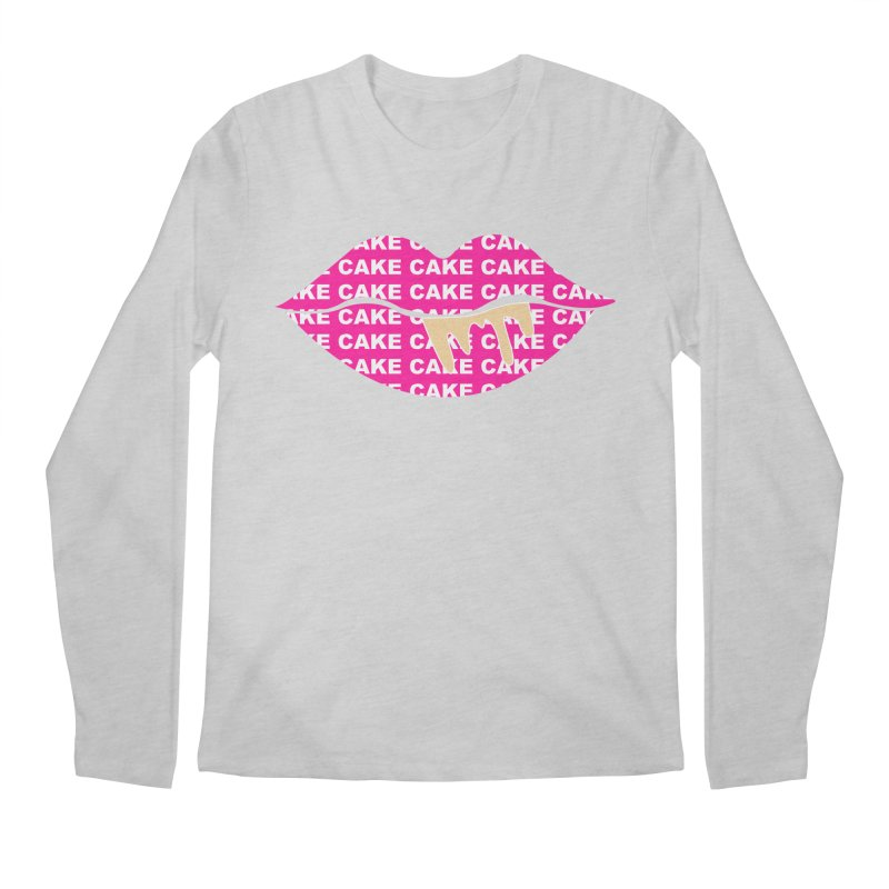 CAKE LIPS (Gld Drips) Men's Regular Longsleeve T-Shirt by More Cake?