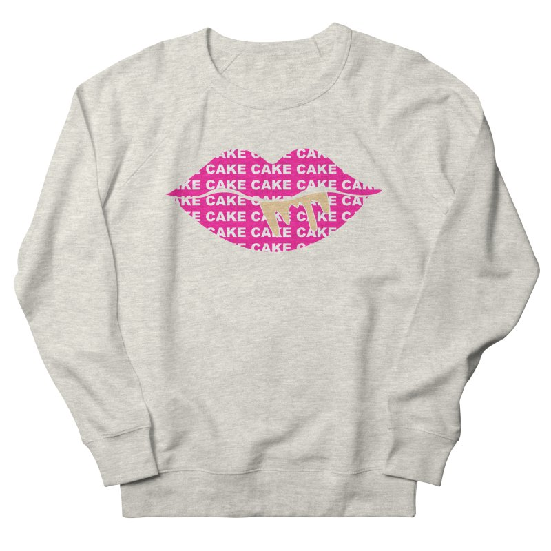 CAKE LIPS (Gld Drips) Men's French Terry Sweatshirt by More Cake?
