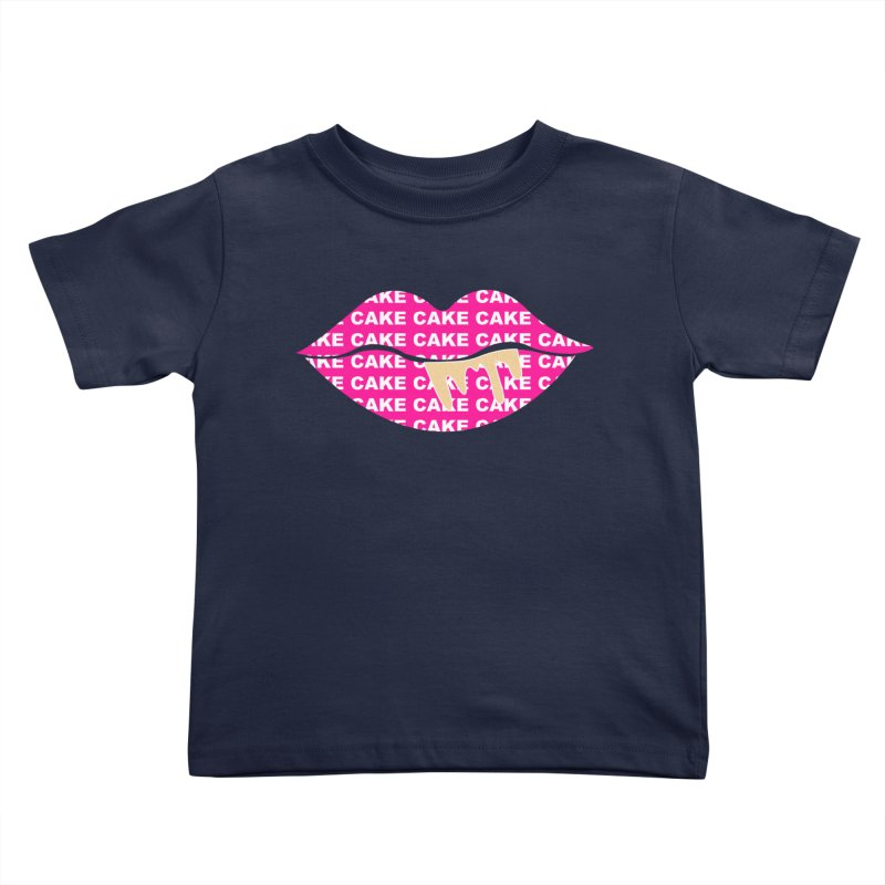 CAKE LIPS (Gld Drips) Kids Toddler T-Shirt by More Cake?