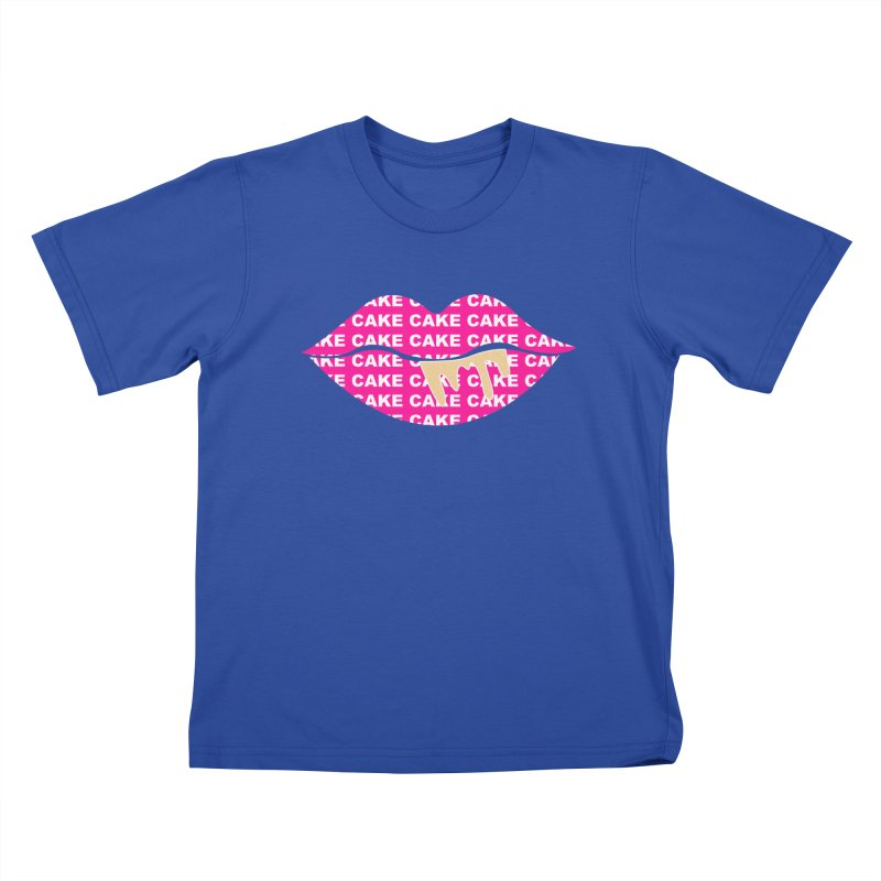 CAKE LIPS (Gld Drips) Kids T-Shirt by More Cake?