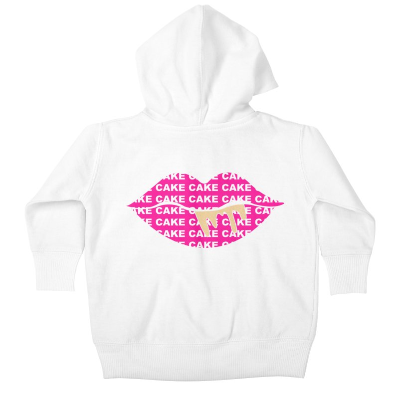 CAKE LIPS (Gld Drips) Kids Baby Zip-Up Hoody by More Cake?