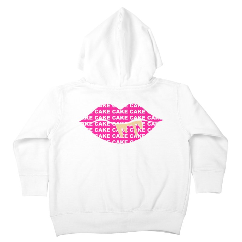 CAKE LIPS (Gld Drips) Kids Toddler Zip-Up Hoody by More Cake?