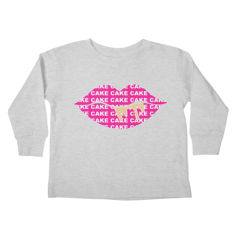 CAKE LIPS (Gld Drips) Kids Toddler Longsleeve T-Shirt by More Cake?