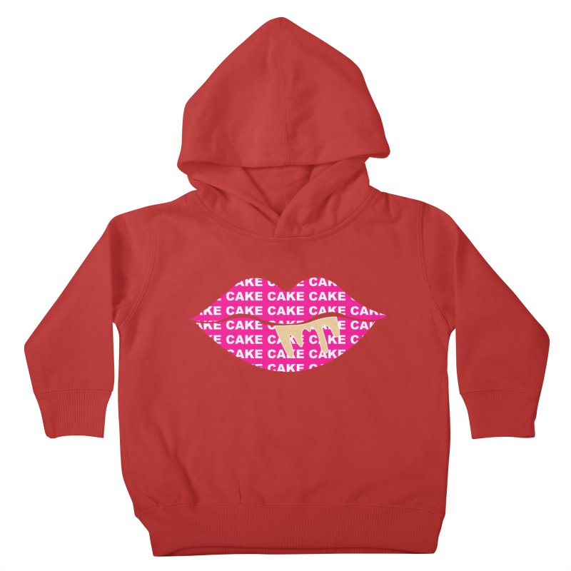 CAKE LIPS (Gld Drips) Kids Toddler Pullover Hoody by More Cake?