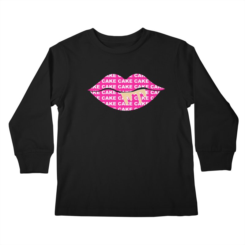 CAKE LIPS (Gld Drips) Kids Longsleeve T-Shirt by More Cake?