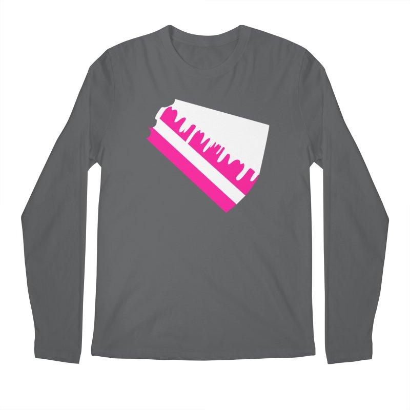 CAKE DRIP (Wht & Pnk) Men's Regular Longsleeve T-Shirt by More Cake?