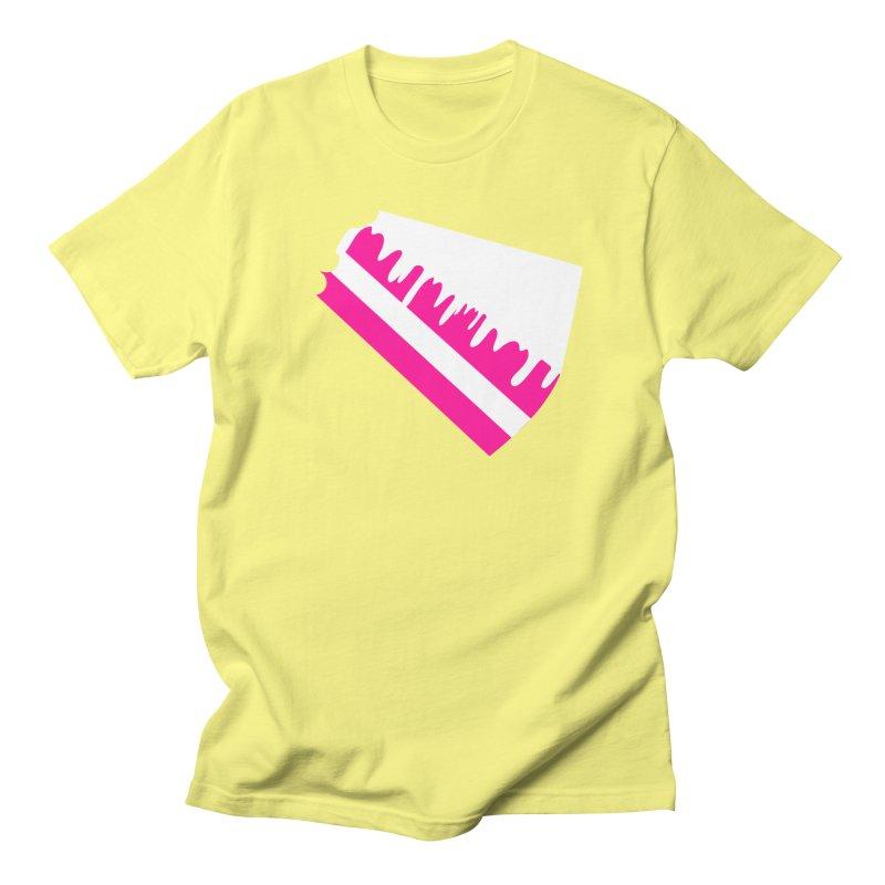 CAKE DRIP (Wht & Pnk) Men's Regular T-Shirt by More Cake?