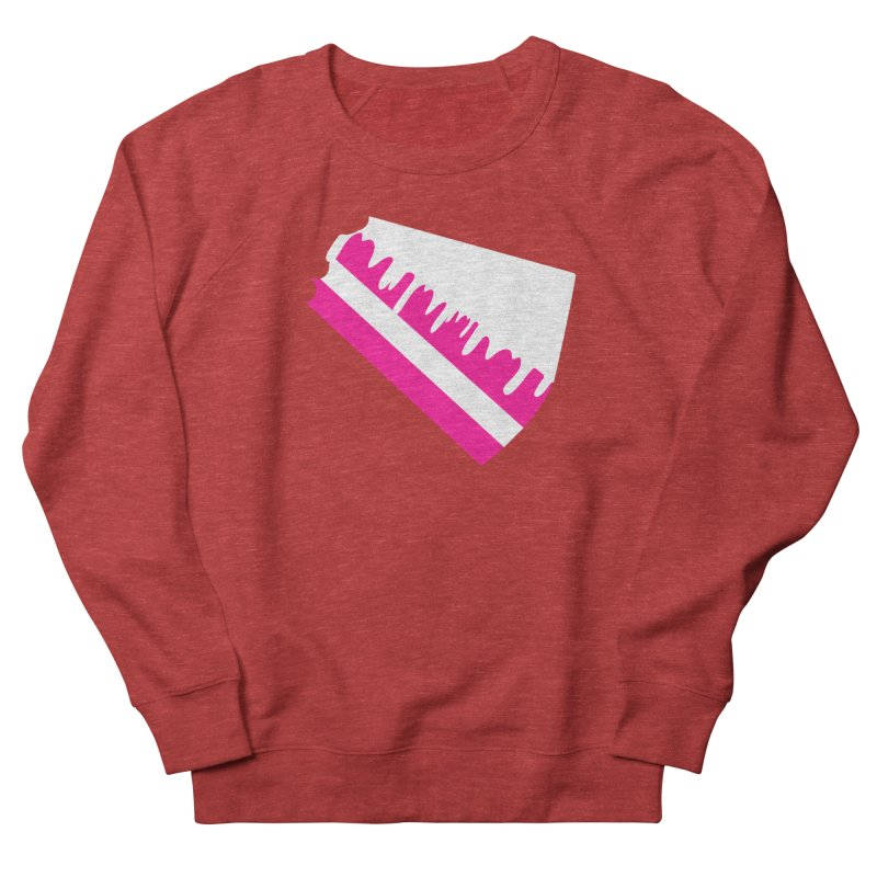 CAKE DRIP (Wht & Pnk) Women's Sweatshirt by More Cake?
