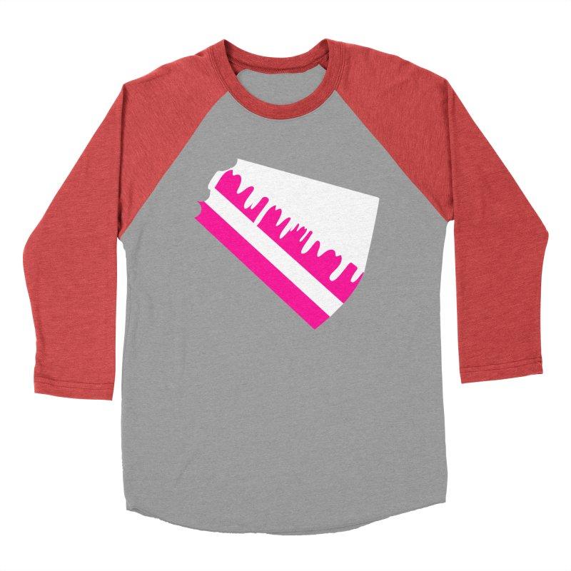 CAKE DRIP (Wht & Pnk) Men's Baseball Triblend Longsleeve T-Shirt by More Cake?