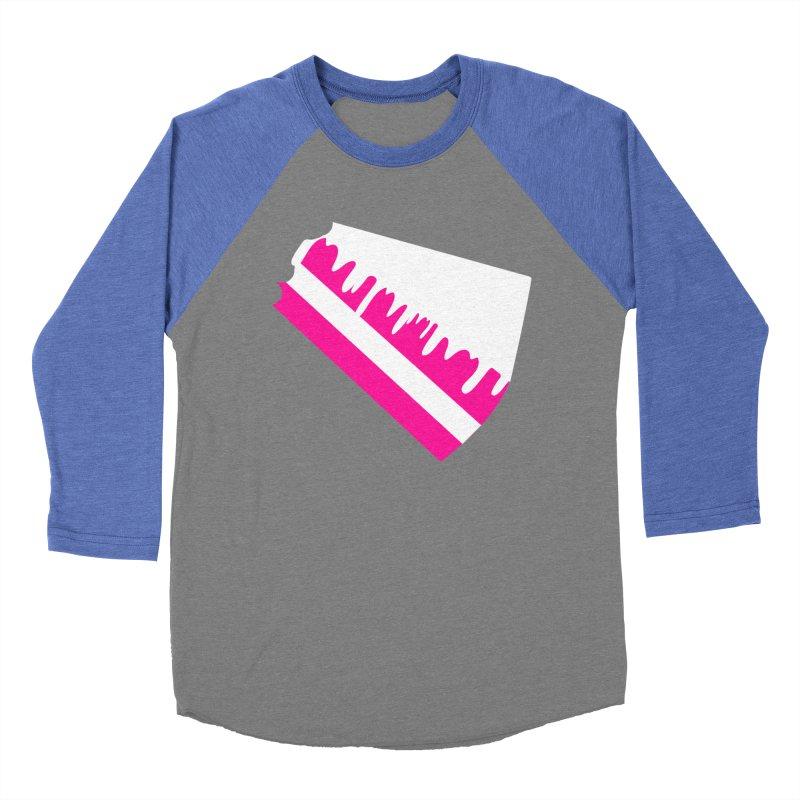 CAKE DRIP (Wht & Pnk) Men's Baseball Triblend T-Shirt by More Cake?